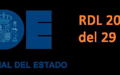 Comunicado por el RDL 10/2020 del 29 de Marzo